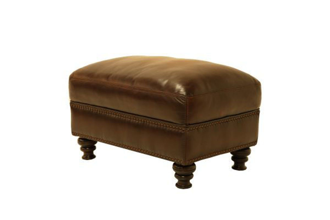 Picture of WESTMINISTER LEATHER OTTOMAN