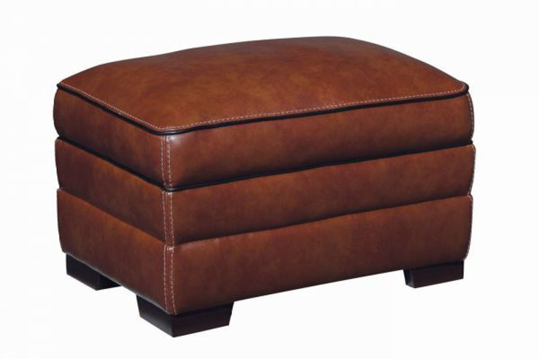 Picture of MACCO LEATHER OTTOMAN