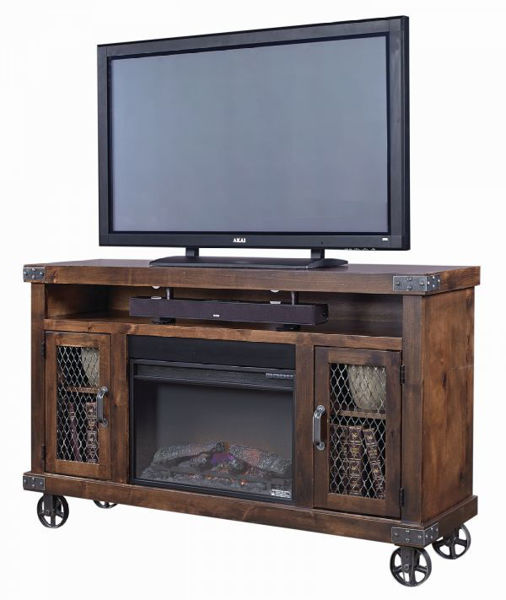 "Picture of INDUSTRIAL 62"" FIREPLACE TV CONSOLE"