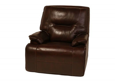 Picture of COFFEE ALL LEATHER POWER GLIDING RECLINER