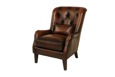 Picture of HILLSBORO BOMBER JACKET ALL LEATHER ACCENT CHAIR