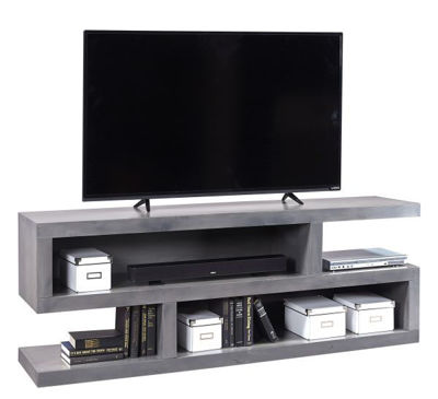 "Picture of CON ALDER GREY 74"" OPEN TV CONSOLE"