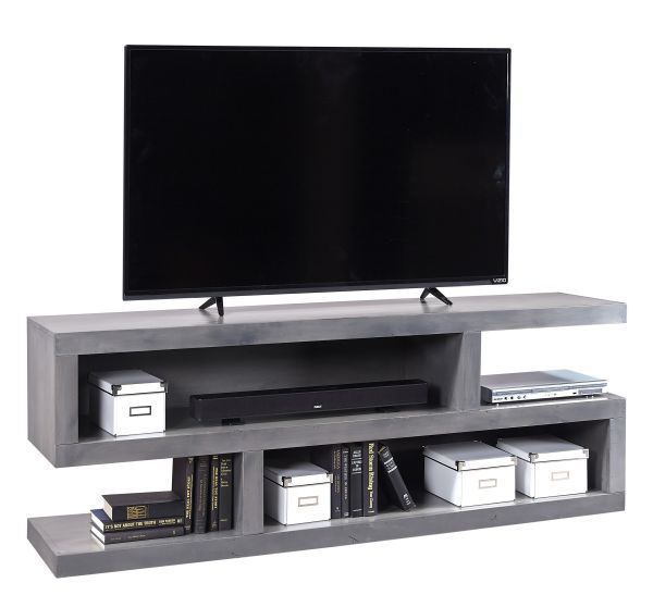 """Picture of CON ALDER GREY 74"""" OPEN TV CONSOLE"""