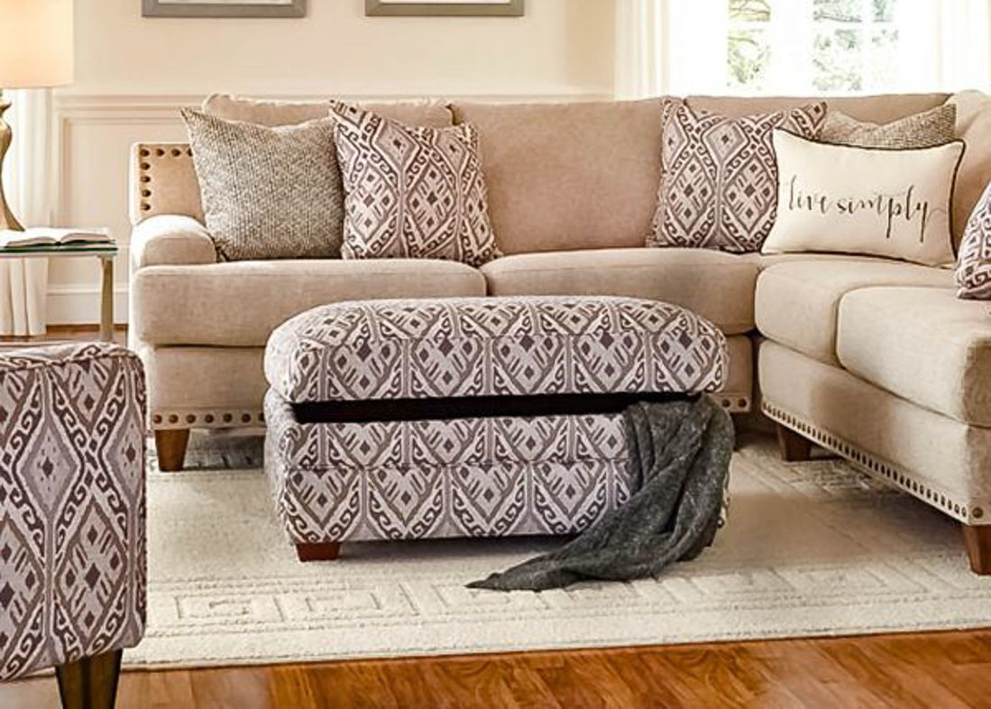 Picture of ANNA UPHOLSTERED OTTOMAN