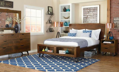 Picture of MELBOURNE LIVE EDGE QUEEN BEDROOM SET