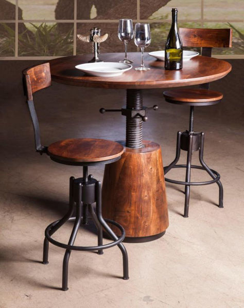 Picture of MODERN REVIVAL SOLID WOOD ADJUSTABLE DINING SET