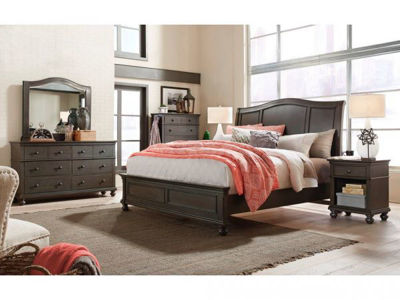 Picture of OXFORD PEPPER CORN QUEEN SLEIGH BEDROOM SET