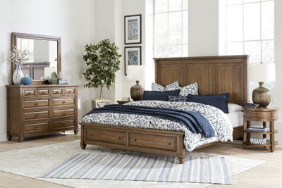 Picture of THORNTON KING STORAGE BEDROOM SET