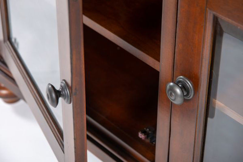 "Picture of OXFORD WHISKEY BROWN 86"" CONSOLE"