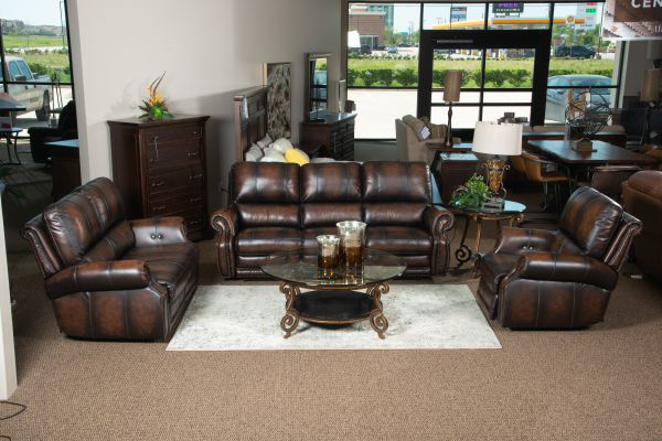 Picture of HILLSBORO ALL LEATHER POWER RECLINING SET