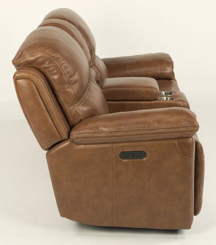 Picture of FENWICK LEATHER POWER RECLINING LOVESEAT