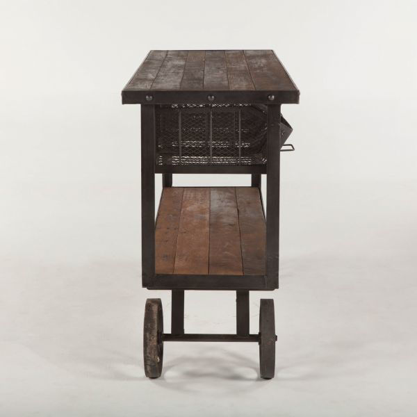 Picture of URBAN INDUSTRIAL SOLID WOOD CART TABLE