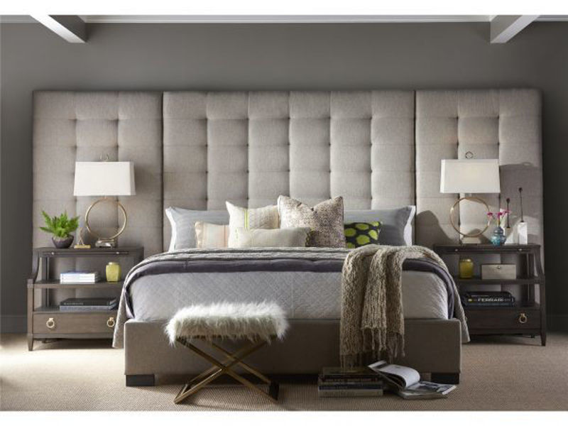 Picture of CAMILLE KING PANEL UPHOLSTERED BEDROOM SET