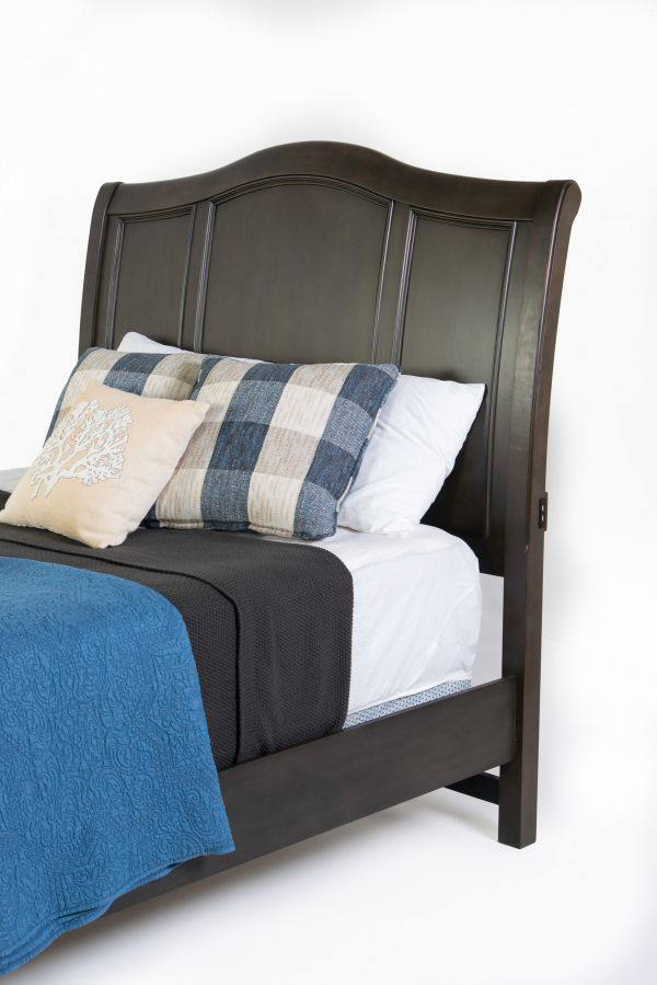 Picture of OXFORD PEPPER CORN KING SLEIGH BED
