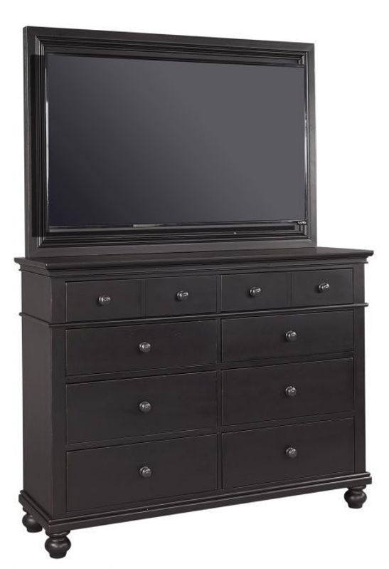 Picture of OXFORD BLACK QUEEN PANEL STORAGE BEDROOM SET