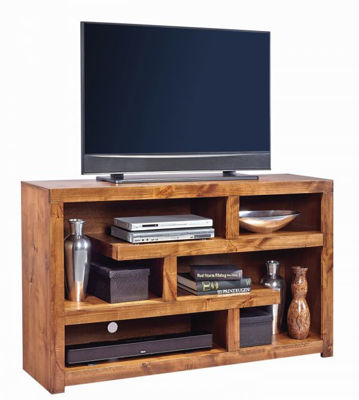 "Picture of CON ALDER FRUITWOOD 60"" OPEN TV CONSOLE"