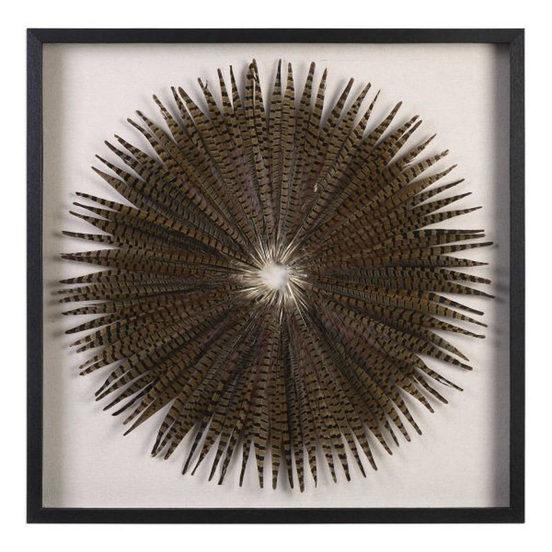 Picture of FEATHER BURST SHADOW BOX