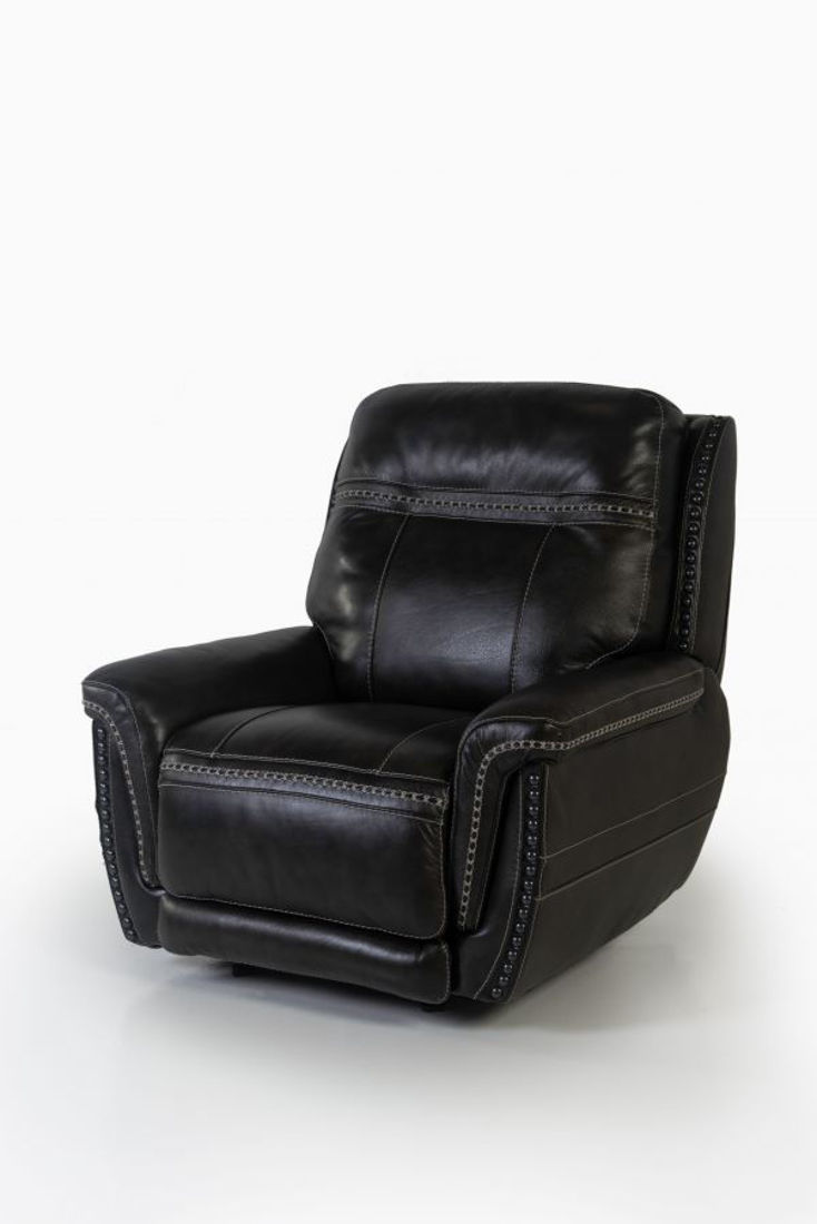 Picture of LONGHORN PEWTER ALL LEATHER POWER GLIDING RECLINER