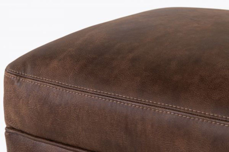 Picture of STALLONE LEATHER OTTOMAN