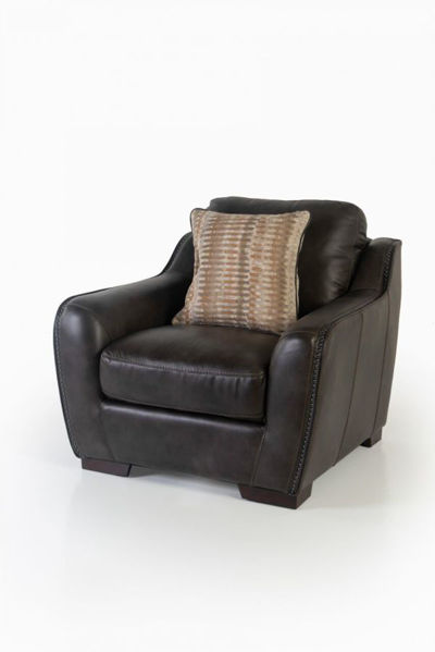 Picture of LUXE COAL ALL LEATHER CHAIR