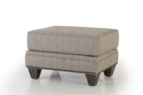 Picture of TILLY SLATE UPHOLSTERED OTTOMAN