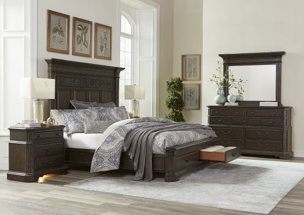 Picture of FOXHILL QUEEN STORAGE BED