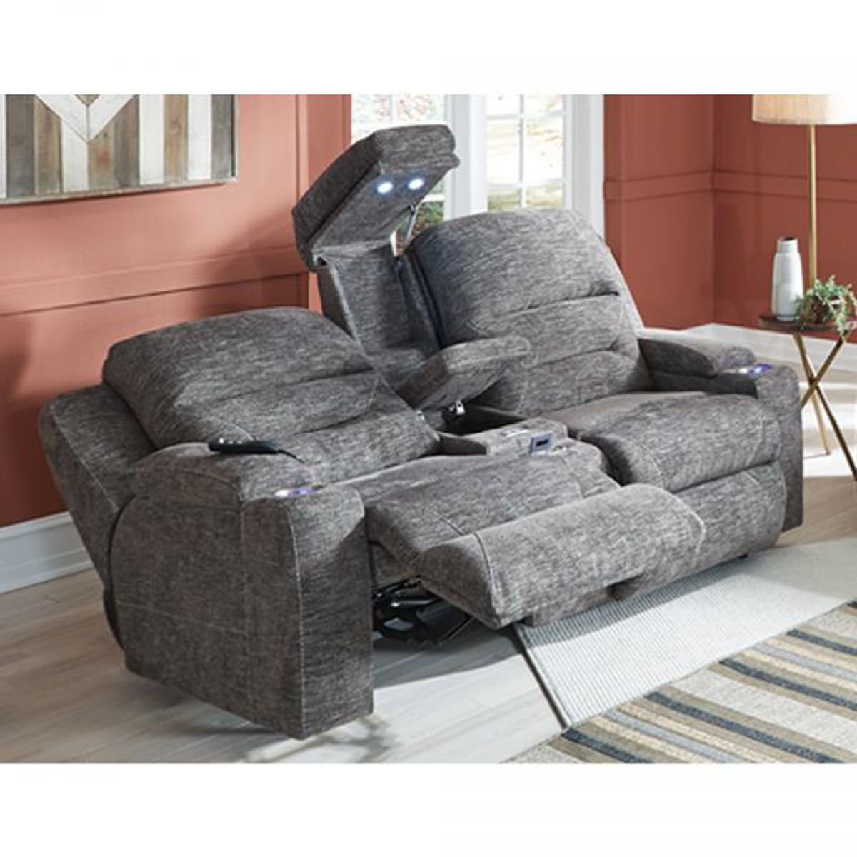 Picture of BEACON TRIPLE POWER RECLINING LOVESEAT