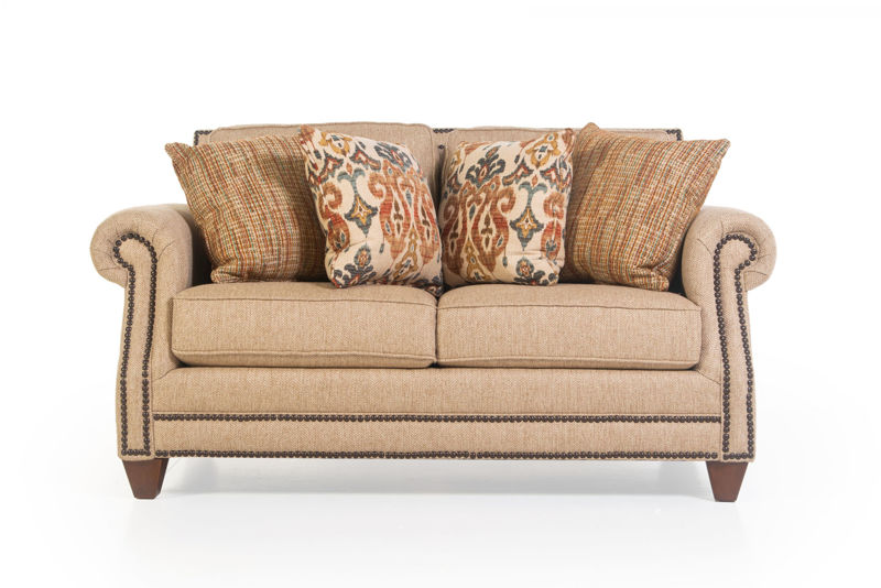 Picture of RUNAROUND BEIGE UPHOLSTERED LOVESEAT