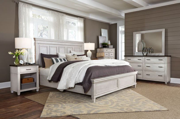 Picture of CARAWAY KING PANEL BEDROOM SET