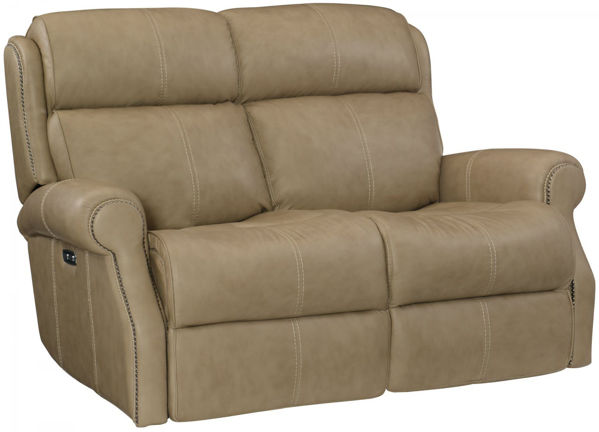 Picture of MCGWIRE ALL LEATHER POWER RECLINING LOVESEAT