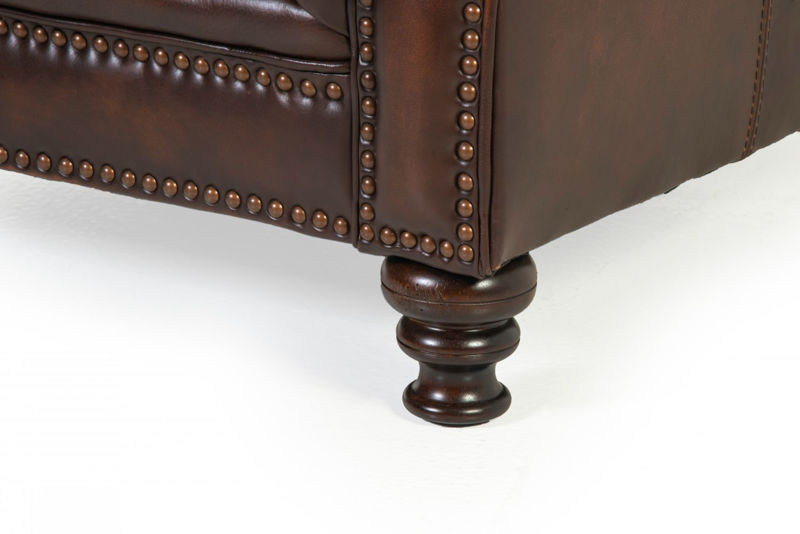 Picture of WESTMINISTER ALL LEATHER LOVESEAT
