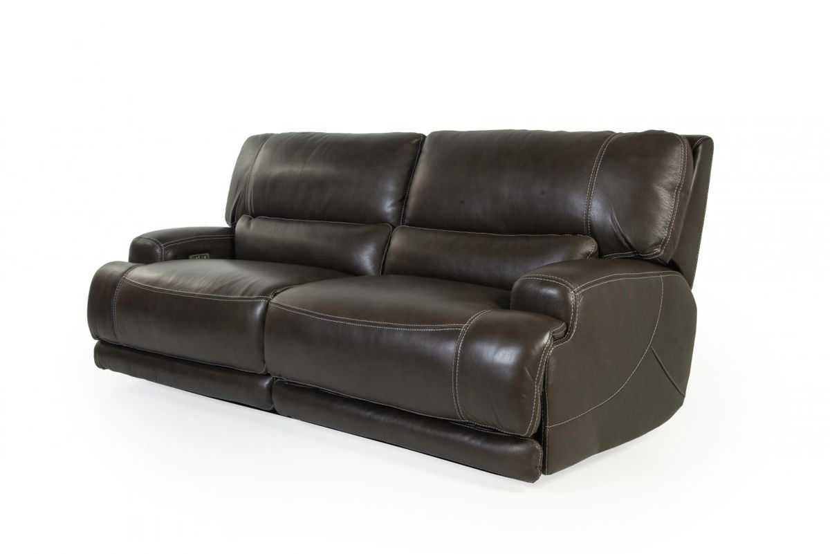 Picture of FERRARA SMOKE ALL LEATHER POWER RECLINING SOFA