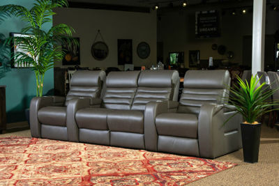 Picture of CATALINA LEATHER POWER RECLINING THEATER SEATS