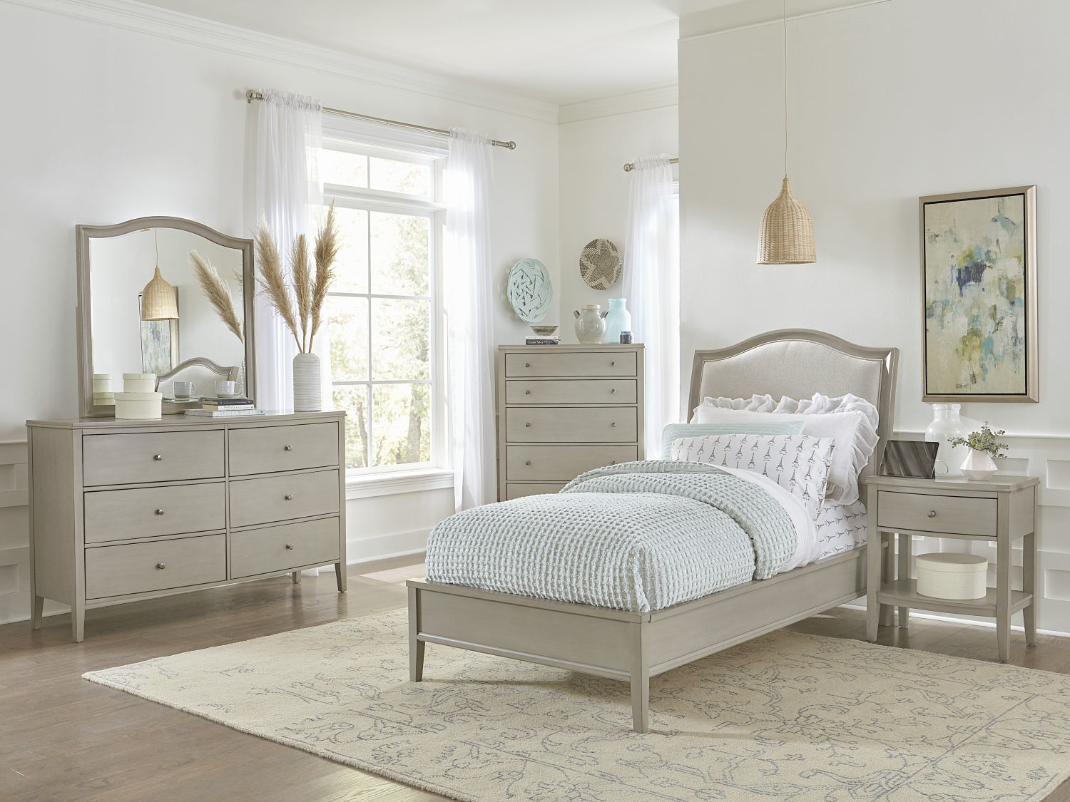 Picture of CHARLOTTE TWIN UPHOLSTERED BEDROOM SET
