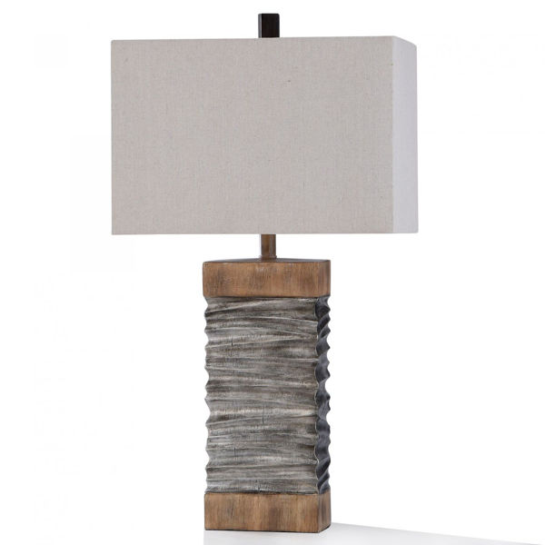 Picture of DARLEY SLATE AND WOOD TABLE LAMP