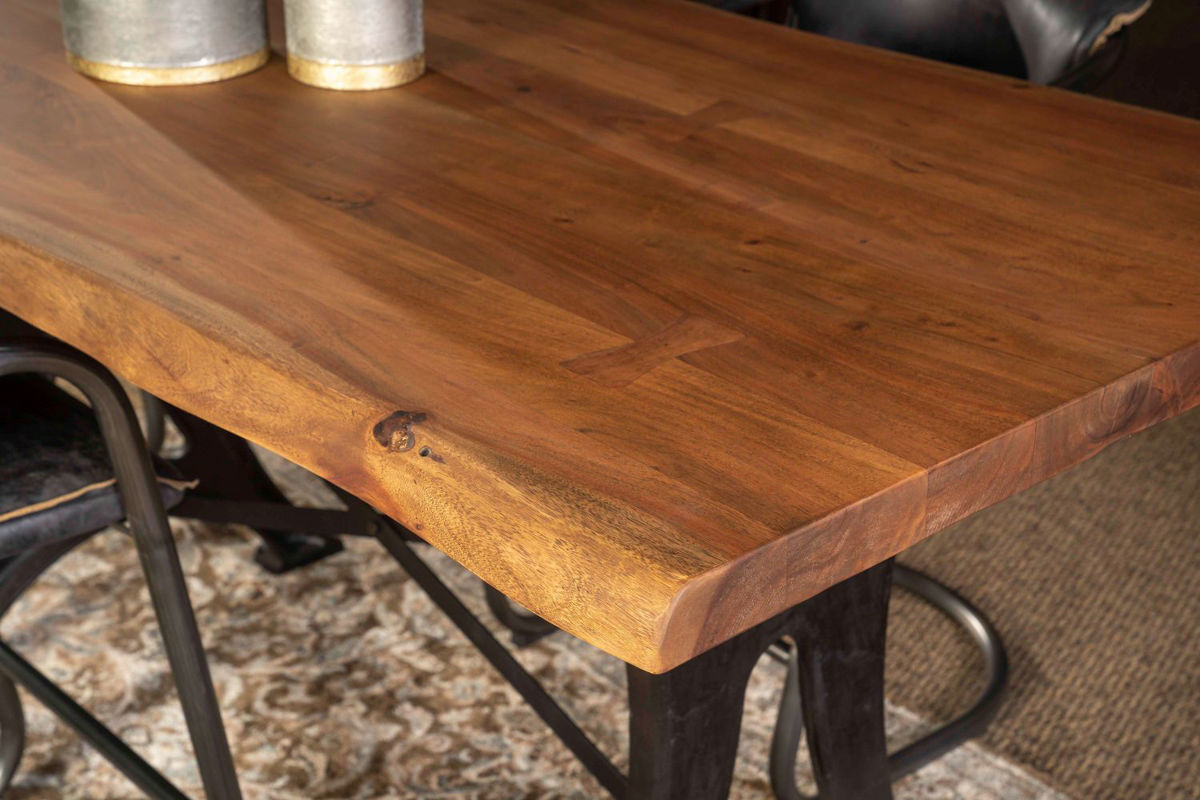 Picture of RUSTIC FORGE LIVE EDGE COUNTER HEIGHT DINING SET