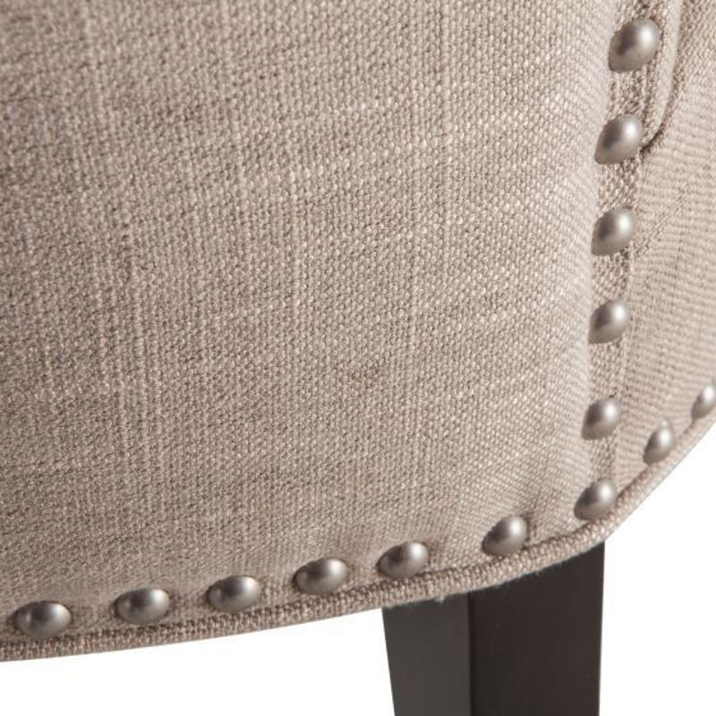Picture of REBECCA BEIGE LINEN DINING CHAIR
