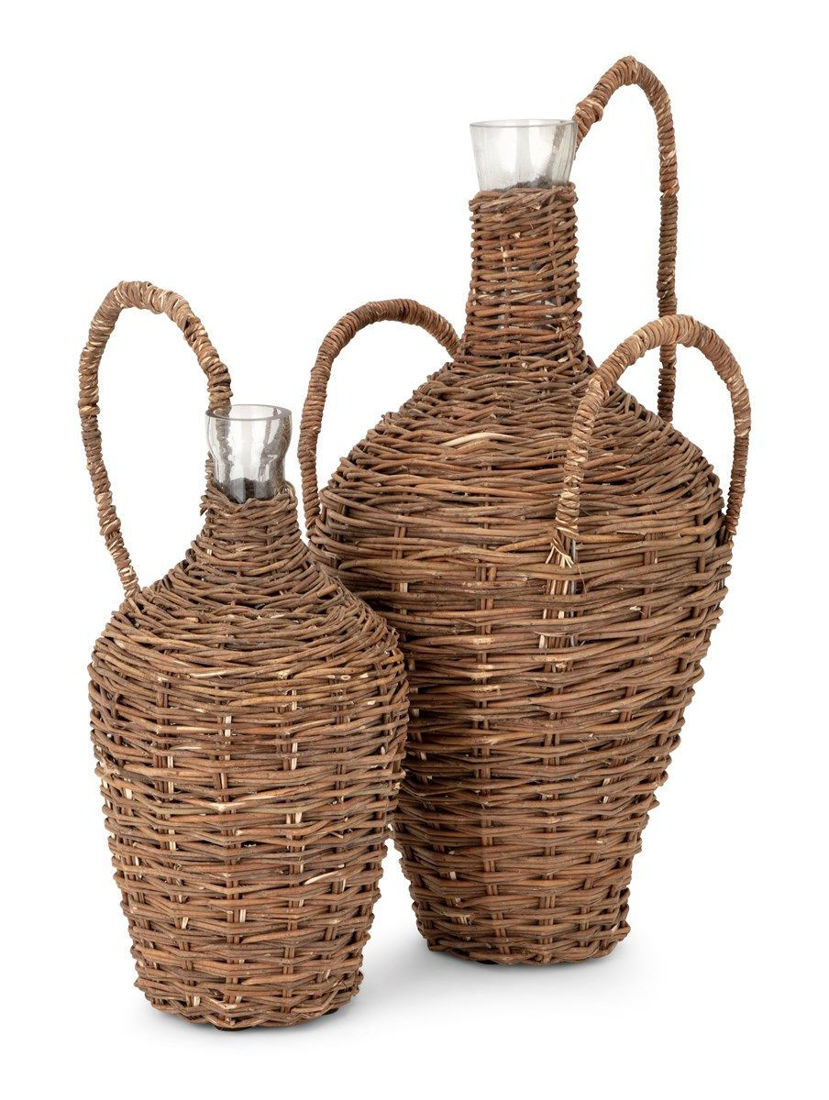 Picture of ABELLA RATTAN GLASS BOTTLES