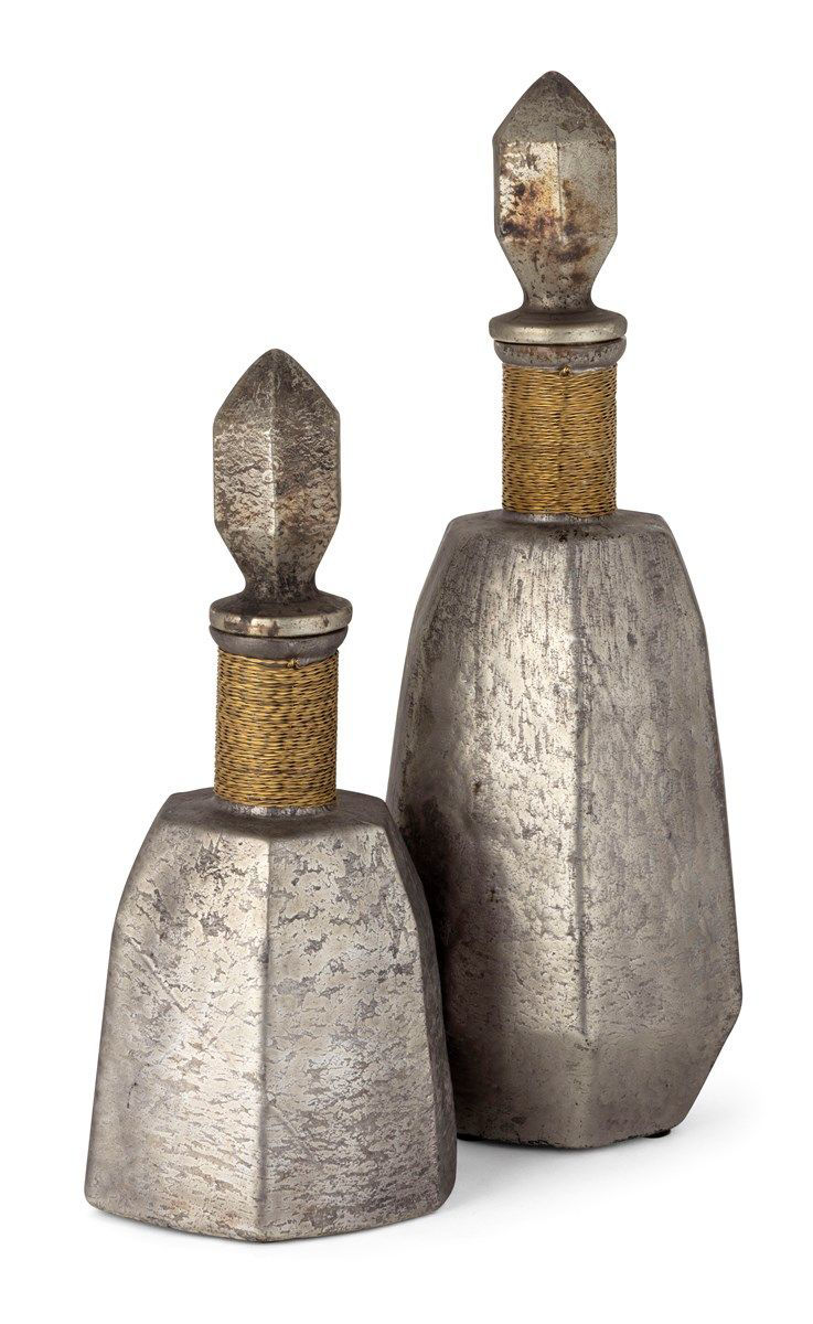 Picture of LILOU GRAY GLASS BOTTLES