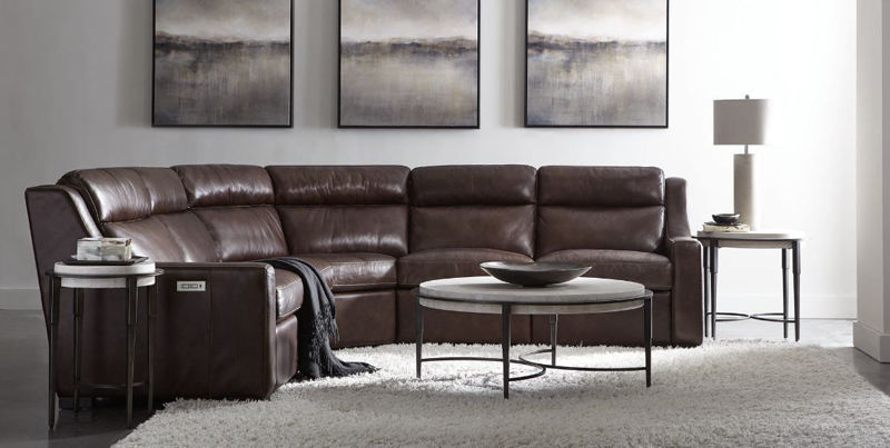 Picture of GERMAIN POWER LEATHER SECTIONAL
