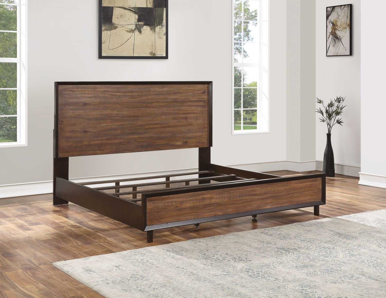 Picture of ALPINE QUEEN PANEL BED