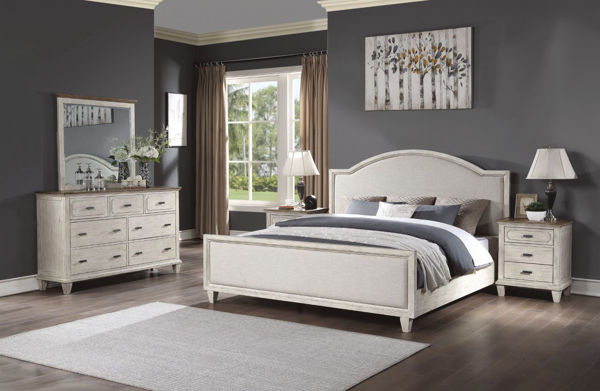 Picture of NEWPORT UPHOLSTERED KING BEDROOM SET