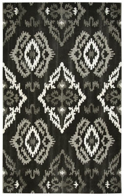 Picture of SP.O. SUFFOLK BLACK WOOL RUG