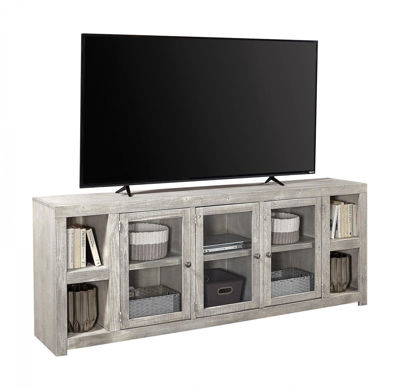 "Picture of AVERY LOFT 84"" LIMESTONE TV CONSOLE"