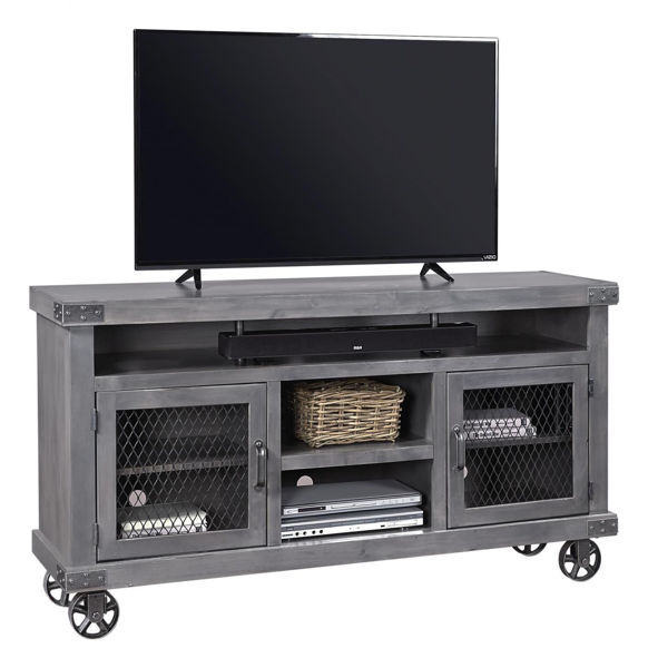 """Picture of INDUSTRIAL 65"""" GHOST BLACK TV CONSOLE"""