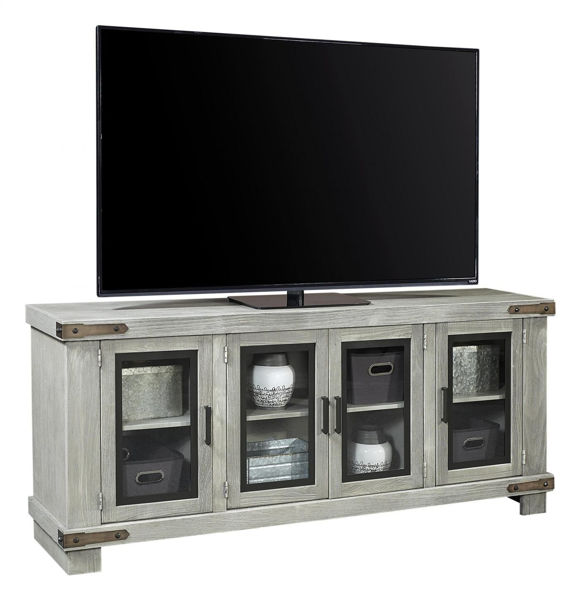 "Picture of SAWYER 78"" LIGHTHOUSE GRAY TV CONSOLE"