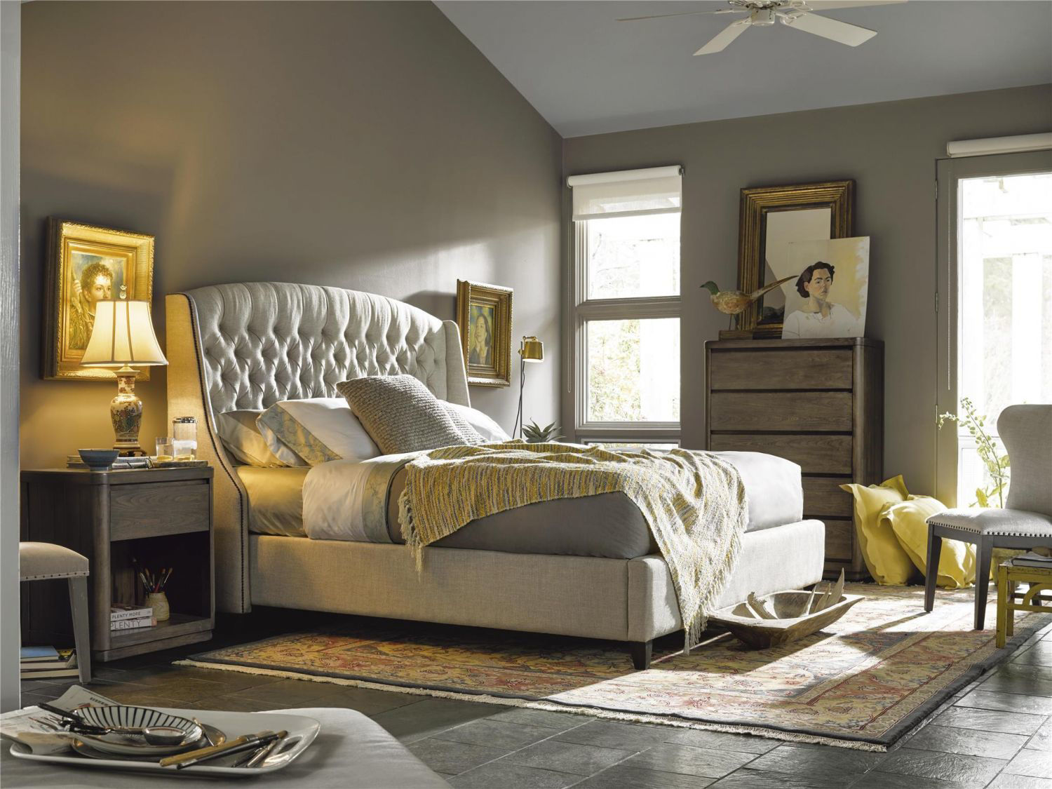 Picture of HALSTON QUEEN UPHOLSTERED BED