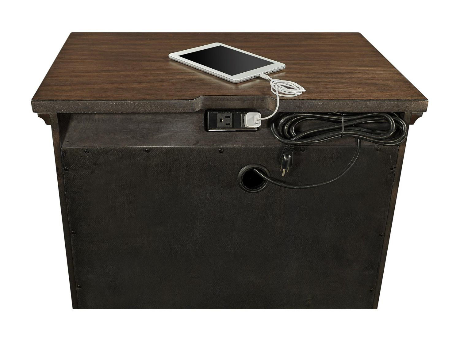 Picture of HUDSON VALLEY 2 DRAWER NIGHTSTAND