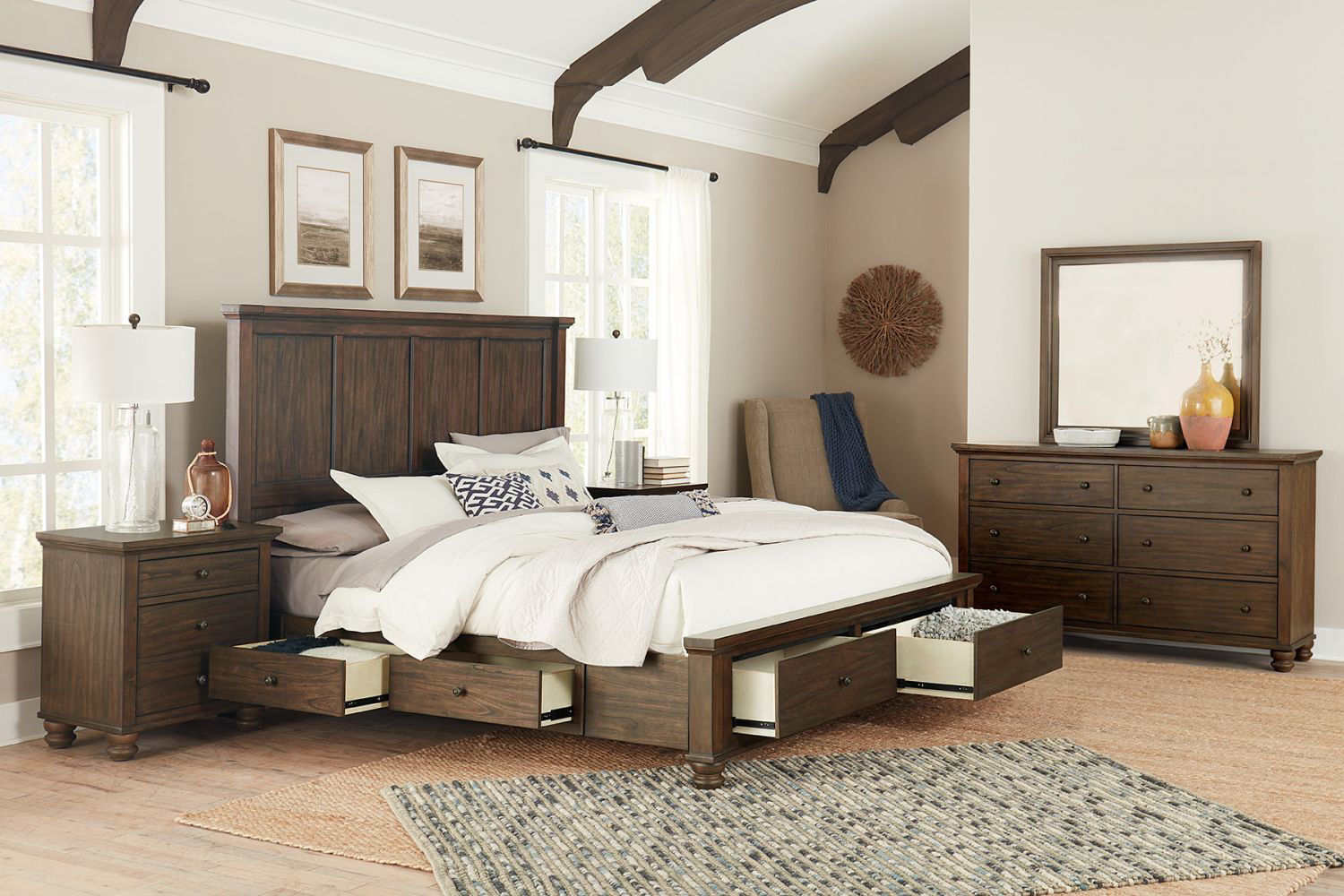 Picture of HUDSON VALLEY QUEEN STORAGE BED