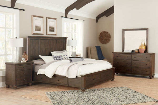 Picture of HUDSON VALLEY KING STORAGE BEDROOM SET